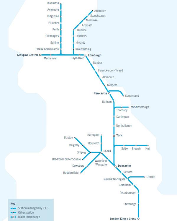 map of east coast train line Lido Rail Virgin Trains East Coast Logistics Institute Data map of east coast train line